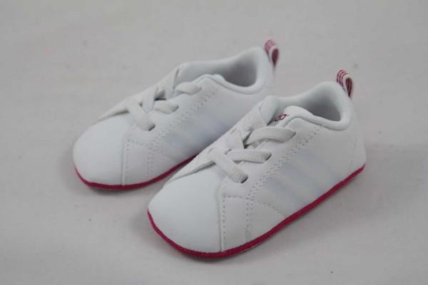 Adidas NEO VS ADVANTAGE weiss pink Mädchen Krabbelschuh