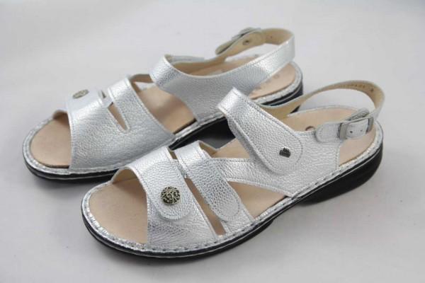 Finn Comfort Gomera Damen Sandale Leder argento