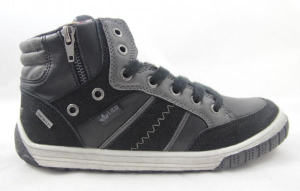 Lico Jungen Sneaker High JOKER schwarz grau