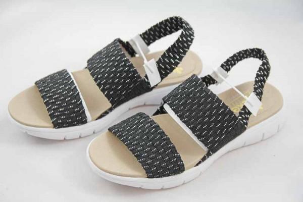Rieker Damen Sandale schwarz V9070-00