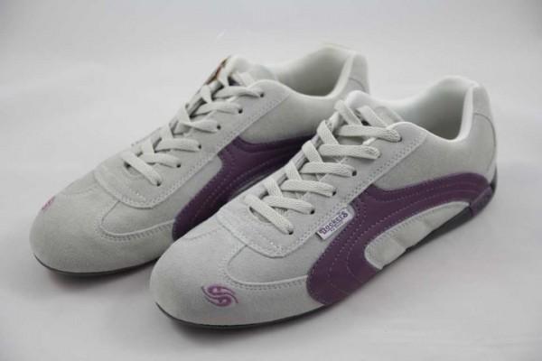 Dockers Sneaker Damen Velour hellgrau lila