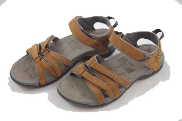 Teva Tirra Leather W's Damen Leder-Sandale Outdoor Rust