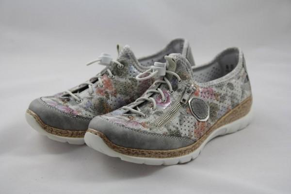Rieker N42V1-40 Slipper Sneaker Damen grau multi MemoSoft