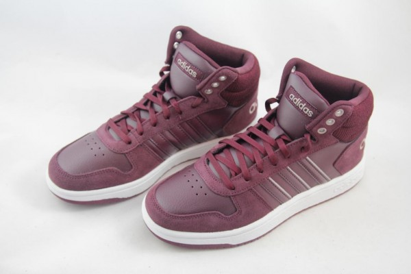 Adidas Hoops 2.0 Mid B42408 Damen Sneaker Maroon