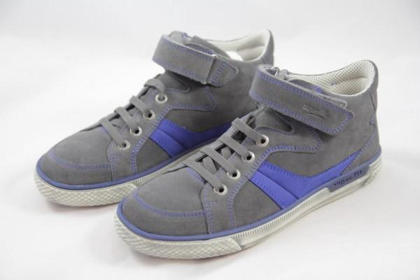 Superfit Luke Jungen Sneaker High Velour stone / blue 00198-06