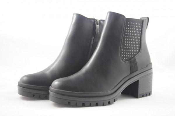 Tamaris Damen Stiefelette black schwarz 1-25428-23 001