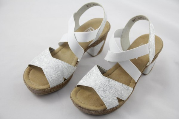 Rieker Sandale Damen weiss 69720-80
