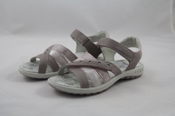 IMAC Mädchen Sandale grau pink