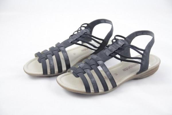 Remonte Damen Sandale Schwarz R3630-01