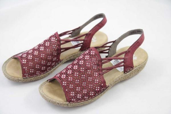 Rieker Damen Sandale rot 658B2-35