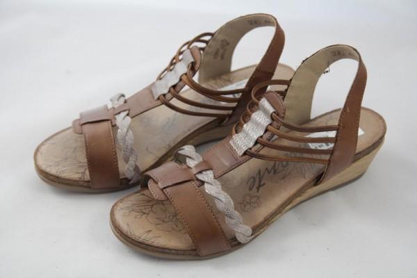 Remonte R4458-24 Damen Sandalette braun Keilabsatz