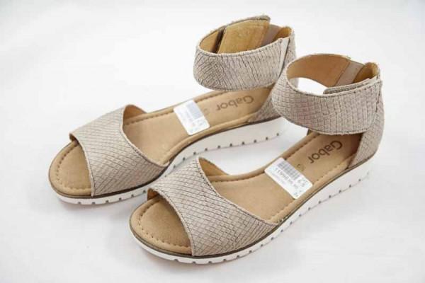 Gabor Damen Sandalette Nubuk beige