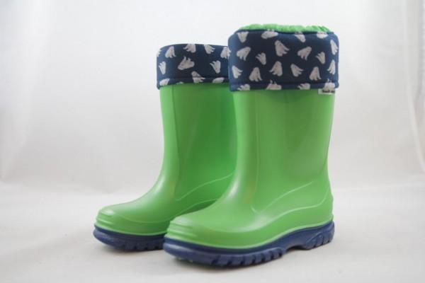 Romika Eisbär Regenstiefel PVC Unisex für Mädchen und Jungen lime-blau, gefüttert, schadstofffrei