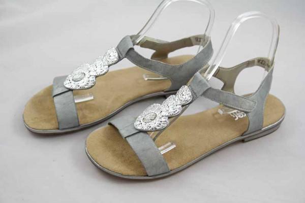 Rieker Damen Sandale Silber 61762-90
