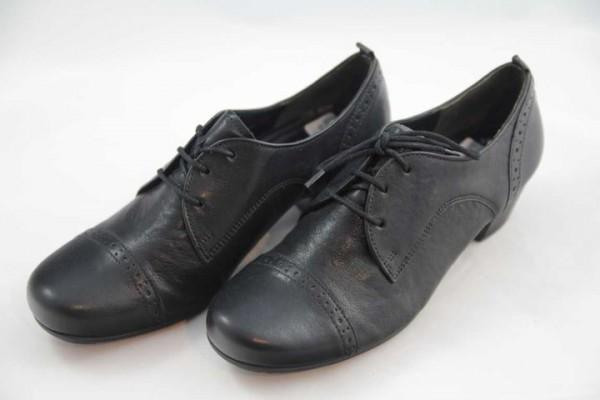 Gabor Schnürschuhe Absatz Leder schwarz elegant
