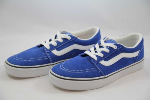 Vans Collins Velourleder Classic Blue/White Sneaker Herren/Jungen