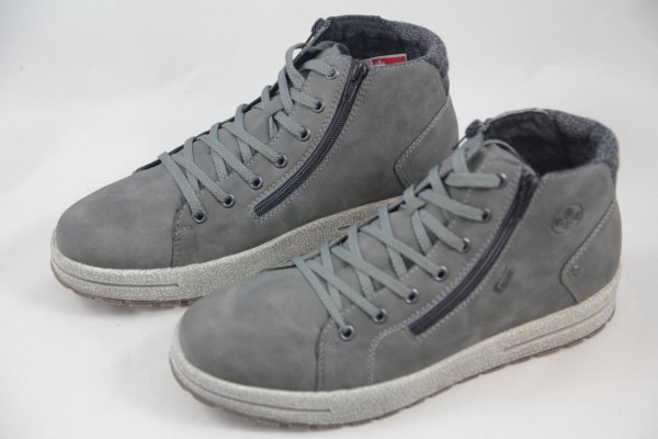 Rieker Herren Schnürstiefel Sneaker High grau Rieker-Tex 30721