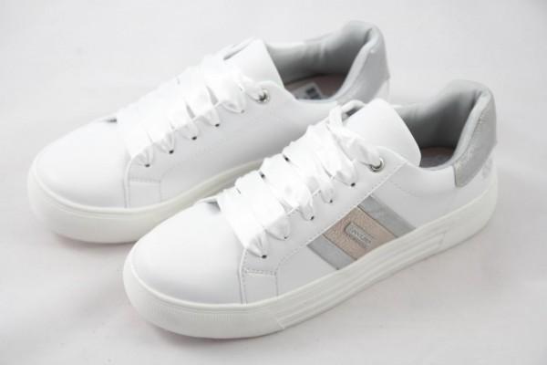 Dockers Damen Sneaker Plateau weiss