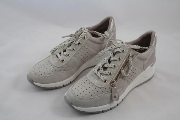 Tamaris Damen Sneaker Velourleder antilope beige 1-23727-23