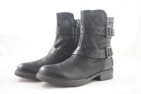 Tamaris Damen Stiefelette Leder black schwarz 1-25427-27