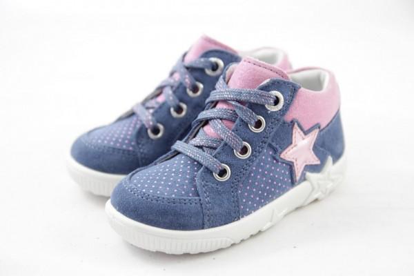 Superfit Starlight Lauflernschuh Mädchen blau rosa