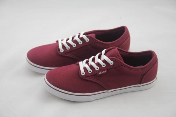 Vans Damen Sneaker Atwood Low Canvas burgundy white, bordo