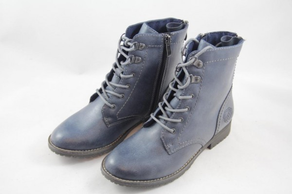 Marco Tozzi Mädchen Stiefelette Navy Antic 2-46218-23