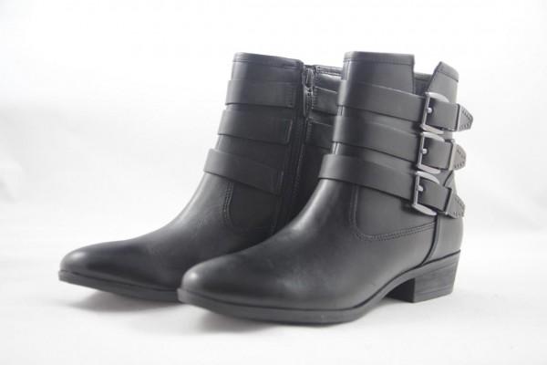 Tamaris Damen Stiefelette Leder black schwarz 1-25952-39